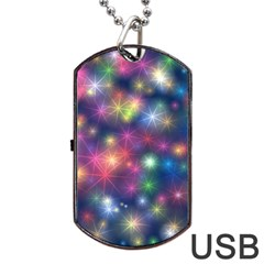 Abstract Background Graphic Design Dog Tag Usb Flash (one Side)