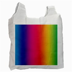 Abstract Rainbow Recycle Bag (one Side)