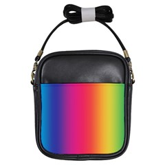 Abstract Rainbow Girls Sling Bags