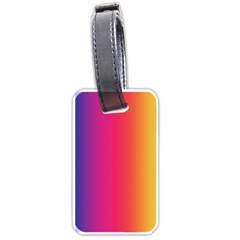 Abstract Rainbow Luggage Tags (one Side)