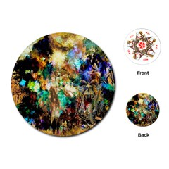 Abstract Digital Art Playing Cards (round)