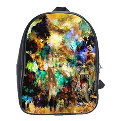 Abstract Digital Art School Bags(large)