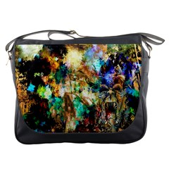 Abstract Digital Art Messenger Bags