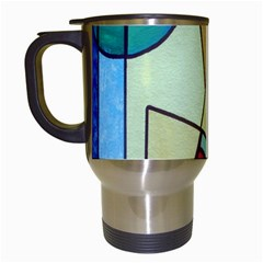 Abstract Art Face Travel Mugs (white)