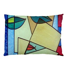 Abstract Art Face Pillow Case (two Sides)