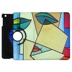 Abstract Art Face Apple Ipad Mini Flip 360 Case