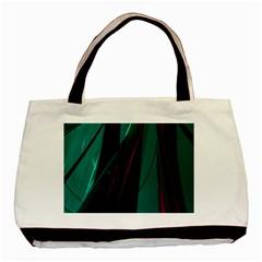 Abstract Green Purple Basic Tote Bag