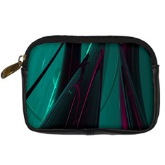 Abstract Green Purple Digital Camera Cases by Nexatart