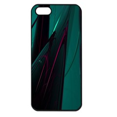 Abstract Green Purple Apple Iphone 5 Seamless Case (black)