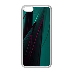 Abstract Green Purple Apple Iphone 5c Seamless Case (white)
