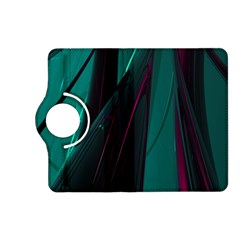 Abstract Green Purple Kindle Fire Hd (2013) Flip 360 Case by Nexatart