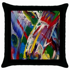 Abstract Art Art Artwork Colorful Throw Pillow Case (black)