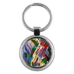 Abstract Art Art Artwork Colorful Key Chains (round)