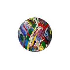 Abstract Art Art Artwork Colorful Golf Ball Marker by Nexatart