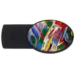 Abstract Art Art Artwork Colorful Usb Flash Drive Oval (2 Gb)