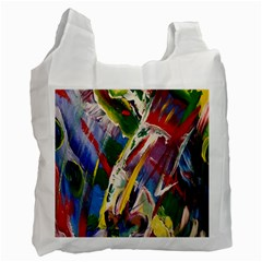 Abstract Art Art Artwork Colorful Recycle Bag (one Side) by Nexatart