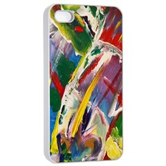 Abstract Art Art Artwork Colorful Apple Iphone 4/4s Seamless Case (white)