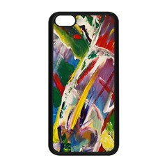Abstract Art Art Artwork Colorful Apple Iphone 5c Seamless Case (black)