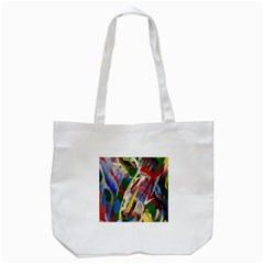 Abstract Art Art Artwork Colorful Tote Bag (white) by Nexatart