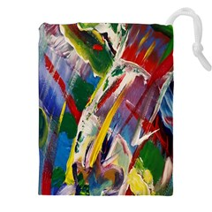 Abstract Art Art Artwork Colorful Drawstring Pouches (xxl)