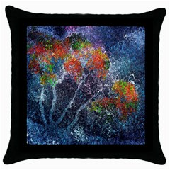 Abstract Digital Art Throw Pillow Case (black)