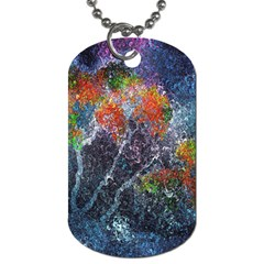 Abstract Digital Art Dog Tag (two Sides)