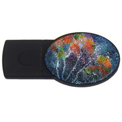 Abstract Digital Art Usb Flash Drive Oval (2 Gb)
