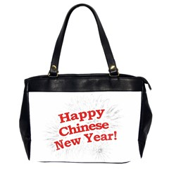 Happy Chinese New Year Design Office Handbags (2 Sides)  by dflcprints