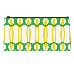 Green Yellow Shapes                                                                                                                   pencil Case by LalyLauraFLM