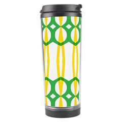 Green Yellow Shapes                                                                                                                   Travel Tumbler by LalyLauraFLM