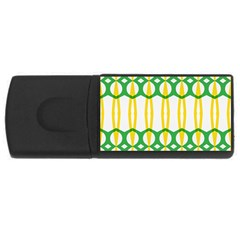 Green Yellow Shapes                                                                                                                   			usb Flash Drive Rectangular (4 Gb) by LalyLauraFLM