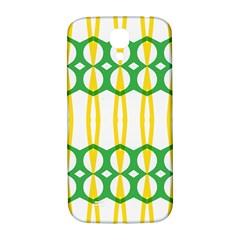 Green Yellow Shapes                                                                                                                  samsung Galaxy S4 I9500/i9505 Hardshell Back Case by LalyLauraFLM