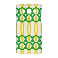 Green Yellow Shapes                                                                                                                  			samsung Galaxy A5 Hardshell Case by LalyLauraFLM