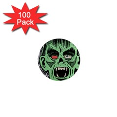Zombie Face Vector Clipart 1  Mini Magnets (100 Pack)