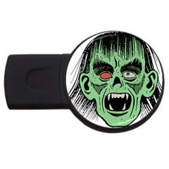 Zombie Face Vector Clipart Usb Flash Drive Round (2 Gb) by Nexatart