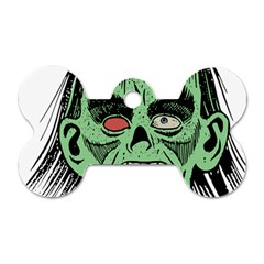 Zombie Face Vector Clipart Dog Tag Bone (two Sides) by Nexatart