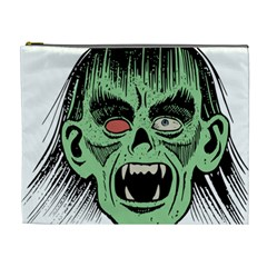 Zombie Face Vector Clipart Cosmetic Bag (xl)