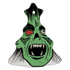 Zombie Face Vector Clipart Ornament (christmas Tree)