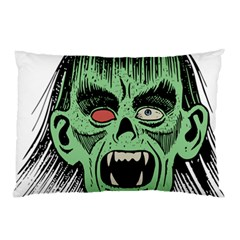 Zombie Face Vector Clipart Pillow Case (two Sides)