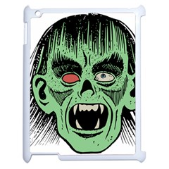 Zombie Face Vector Clipart Apple Ipad 2 Case (white)