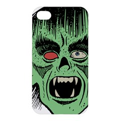 Zombie Face Vector Clipart Apple Iphone 4/4s Hardshell Case