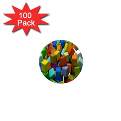 Cubes Assorted Random Toys 1  Mini Magnets (100 Pack)