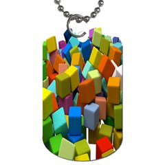 Cubes Assorted Random Toys Dog Tag (two Sides)