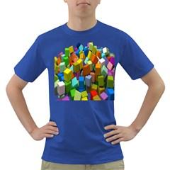 Cubes Assorted Random Toys Dark T Shirt