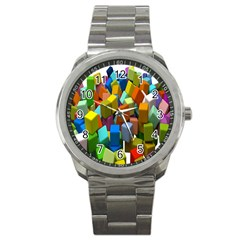 Cubes Assorted Random Toys Sport Metal Watch