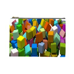Cubes Assorted Random Toys Cosmetic Bag (large)
