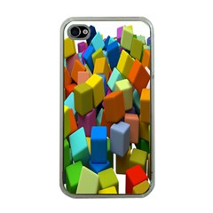 Cubes Assorted Random Toys Apple Iphone 4 Case (clear)