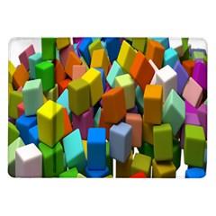 Cubes Assorted Random Toys Samsung Galaxy Tab 10 1  P7500 Flip Case
