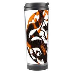 Ornament Dragons Chinese Art Travel Tumbler by Nexatart