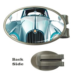 Oldtimer Car Vintage Automobile Money Clips (oval)  by Nexatart